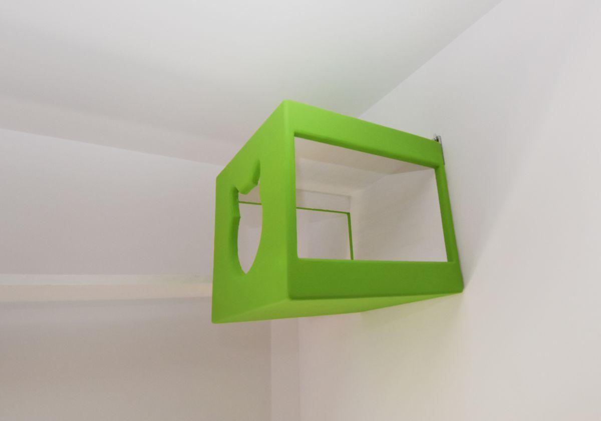 Budka dla kota zielona